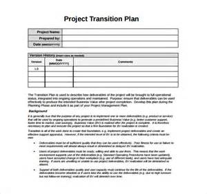 Software Project Transition Plan Template transition plan template 9 documents in pdf