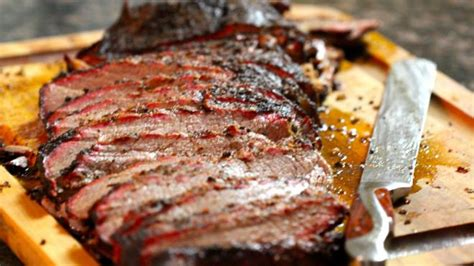 smoked brisket with coffee beer mop sauce recipe