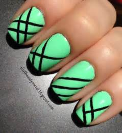 easy nail art with green and black 65 most stylish green and black nail art design ideas