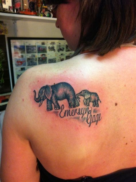 mom son tattoo ideas 57 stylish elephant shoulder designs