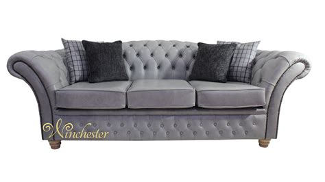 traditional settee chesterfield churchill 3 seater sofa settee stella