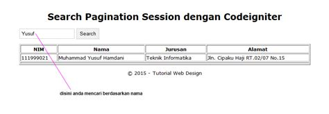 tutorial upload gambar codeigniter tutorial membuat search pagination session di codeigniter