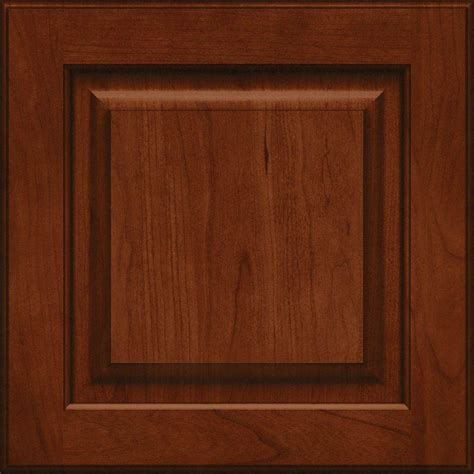 cherry cabinet doors kraftmaid 15x15 in cabinet door sle in piermont cherry square with autumn blush rdcds hd