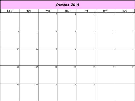 blank calendar template october 2014 october 2014 calendar background calendar template 2016