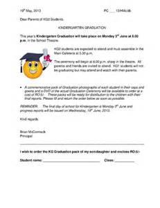 sample preschool graduation letter just b cause