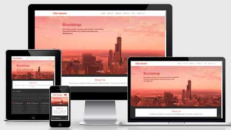Free Download City Square Bootstrap Responsive Web Template Designbeep Bootstrap Advertisement Template