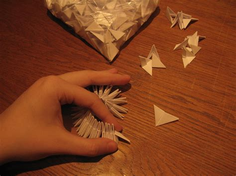 How Do You Make A Swan Out Of Paper - modular origami swan wip 3 by blackdelphin on deviantart