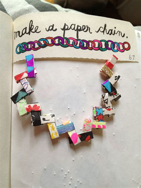 How To Make A Diary Out Of Paper - smith wreckingmyjournal42 make a paper chain and
