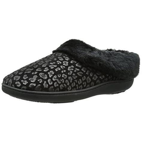 cheetah print slippers isotoner 5243 womens microsuede cheetah print clog