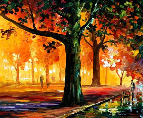 paint with a twist orange park the light of the palette knife painting on
