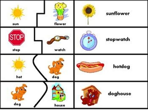 printable word matching games 17 best images about compound word centres on pinterest