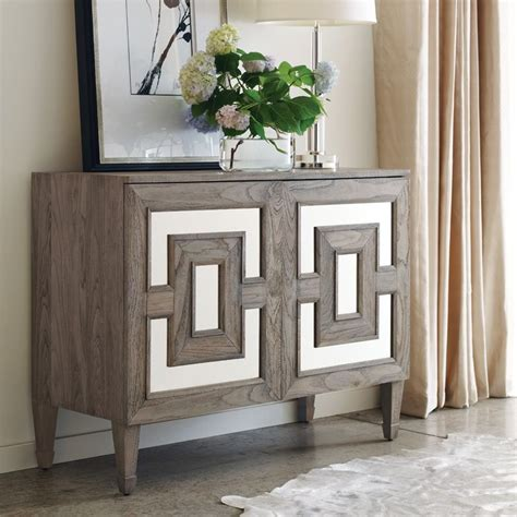 mirrored accent cabinet antique silver entrance brownstone furniture palmer two door accent chest sku