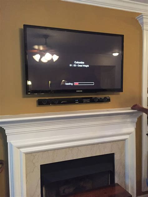 Mount Tv On Fireplace by Tv Wall Mounting Nc Hdtv Mounting On