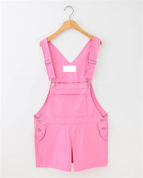 Pinkan Overal color preppy casual overalls brace shorts 183 sweetbox