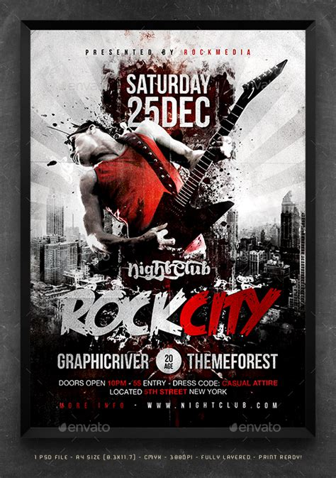 templates for concert flyers rock city concert flyer poster by fadeink graphicriver