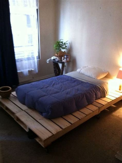 ground bed frames build bed frames themselves diy bed frame from euro
