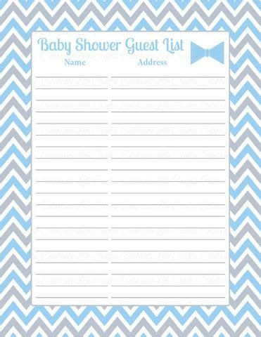Baby Shower Guest List by 69 Best Baby Shower Decorations Favors Images On