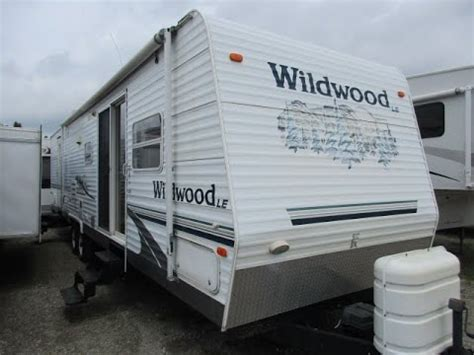 used 2005 forest river rv wildwood le 31qbss le travel haylettrv com 2005 wildwood 37bhs used two bedroom