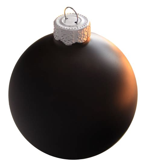 christmas decorations 4 quot black ball ornament matte finish