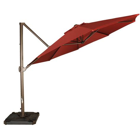 11 Cantilever Patio Umbrella With Base 11 Offset Cantilever Umbrella Outdoor Patio Hanging Umbrella W Cross Base