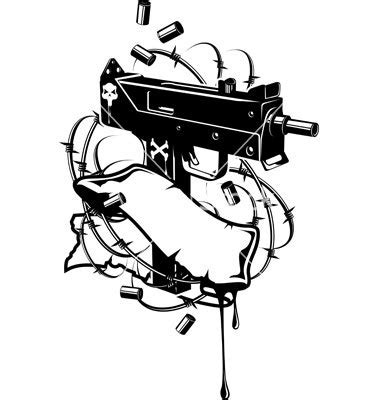 tattoo machine silhouette vector 11 barbed wire vector shirt images barbed wire patterns