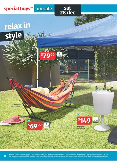 Aldi Hammock aldi catalogue outdoor products and gifts page 14