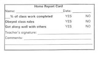 Daily Report Card Template For Adhd by My 8 Yo Grade 3 Just Got Suspended For 2 Days This