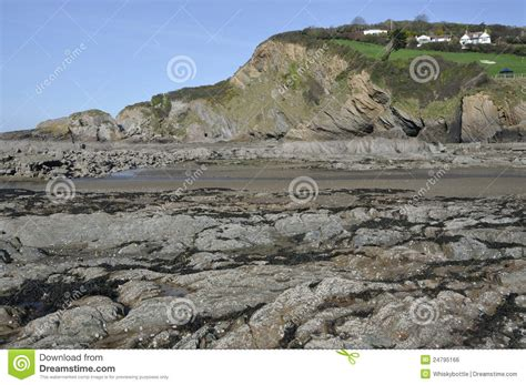lester point and combe martin royalty free stock