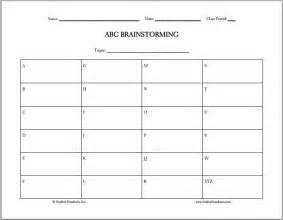 abc brainstorming free printable worksheet student