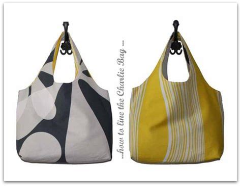 Line Pattern Bag how to line the bag sewing projects burdastyle