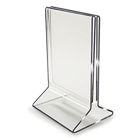 table menu card holder 5x7 all in one menu holder table tent buy acrylic