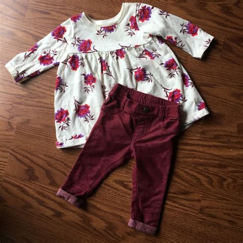 Gap Maroon Legging navy baby floral print dress and maroon
