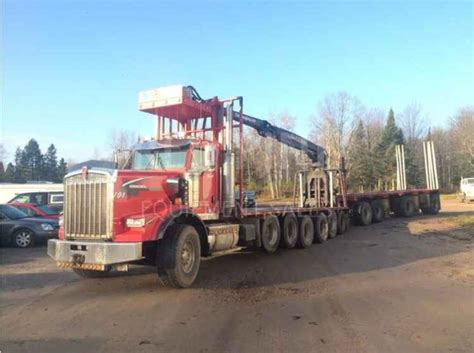 kenworth t800 high hood for sale kenworth t800 high hood log truck sold minnesota