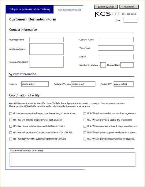 new customer template 13 customer information form template