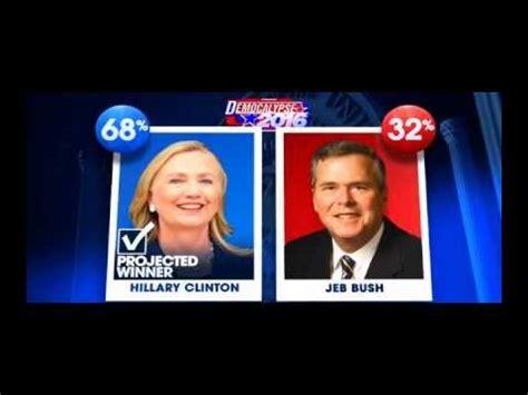 Bush Vs Clinton by Clinton Defeats Jeb Bush 2016 Jon Stewart