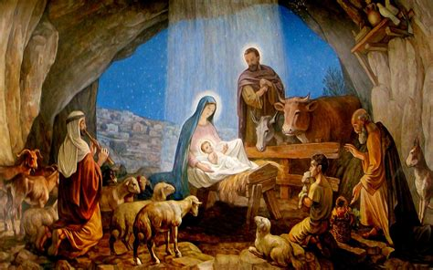 christmas wallpaper nativity scene nativity scene