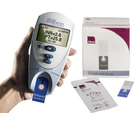 what is a pt inr reading on an alere inratio monitor