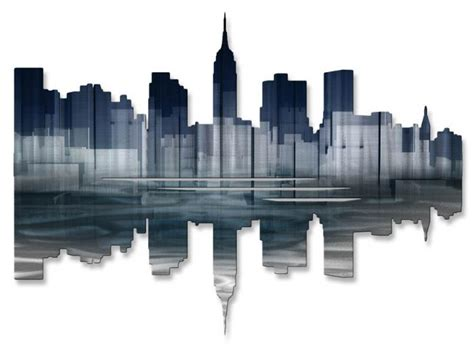 marvelous new york wall decor 5 new york skyline metal