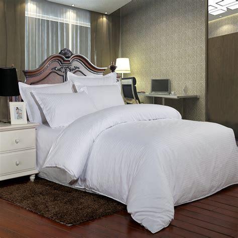 white hotel bedding 100 cotton hotel bedding set white luxury satin strip bed