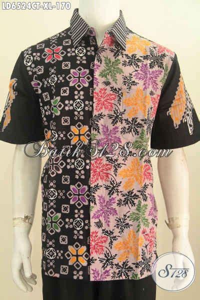 Baju Kerja Xl baju kerja batik size xl hem lengan pendek modis buatan bahan adem motif kombinasi proses
