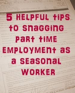5 tips to snagging a part time as a seasonal worker through bright