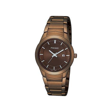 pulsar brown bracelet h samuel the jeweller