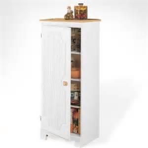 Kitchen Storage Cabinets Free Standing Home Styles 5004 692 Americana Pantry Storage Cabinet White Finish