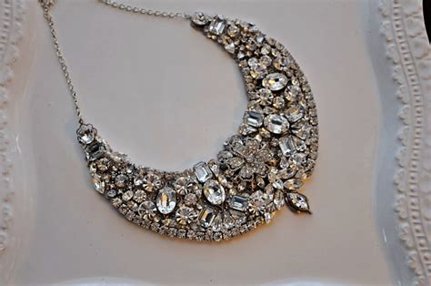 Handcrafted Bridal Jewelry - statement wedding jewelry bridal necklace etsy handmade 15
