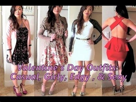 9 date outfits valentines day lookbook style youtube valentine s day outfit ideas casual girly edgy sexy