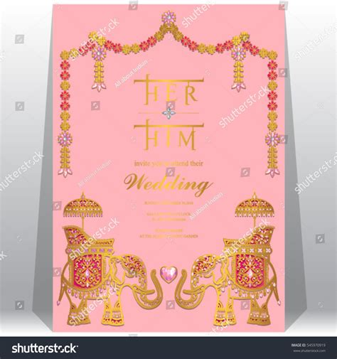 indian wedding card templates vector indian wedding invitation card templates gold stock vector