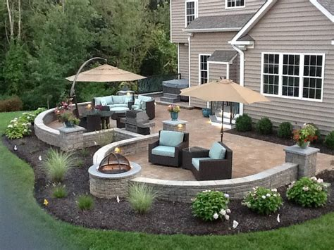 Patio Garden Design Ideas by Concrete Patio Designs Landscaping Home Ideas Collection