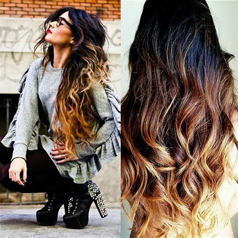 outra bundle hairstyles ombre balayage tape in hair extensions 5 star by missmiellee