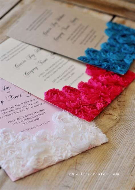 Handmade Invitation Ideas - handmade wedding invite ideas iidaemilia