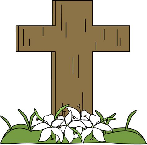 easter clipart religious easter lilies and cross clipart clipart suggest